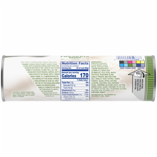 Kroger® Italian Herb Focaccia Dough Perspective: back
