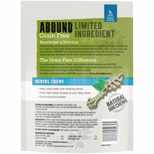 ABOUND® Grain Free Limited Ingredient Dental Chews Perspective: back