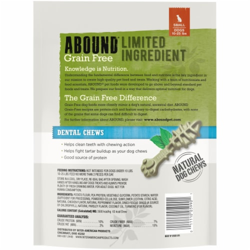 Abound® Grain Free Limited Ingredient Small Dog Dental Chews Perspective: back