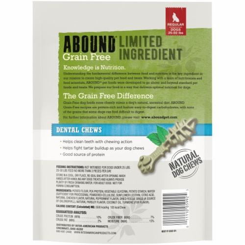 Abound® Grain Free Limited Ingredient Regular Dental Dog Chews Perspective: back