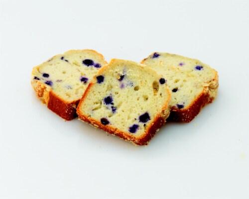 Bakery Fresh Goodness Blueberry Sliced Loaf Cake Perspective: back