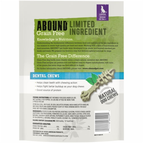 Abound® Grain Free Limited Ingredient Large Dental Dog Chews Perspective: back
