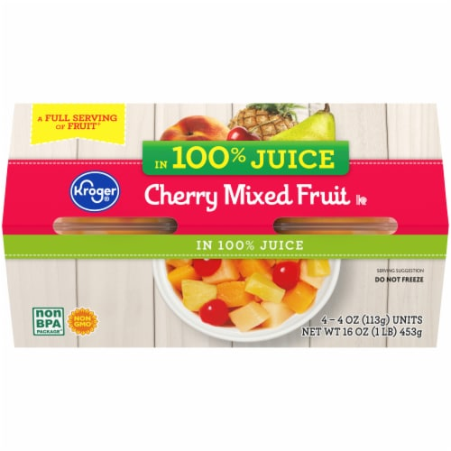 Kroger® Cherry Mixed Fruit Cups Perspective: back