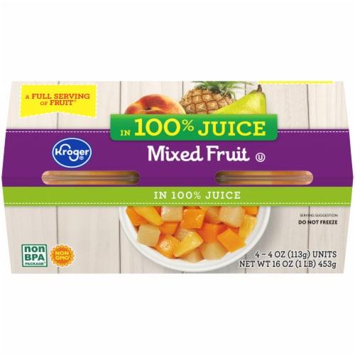 Kroger® Mixed Fruit in 100% Juice Perspective: back