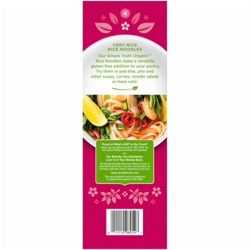 Simple Truth Organic™ Pad Thai White Rice Noodles Perspective: back