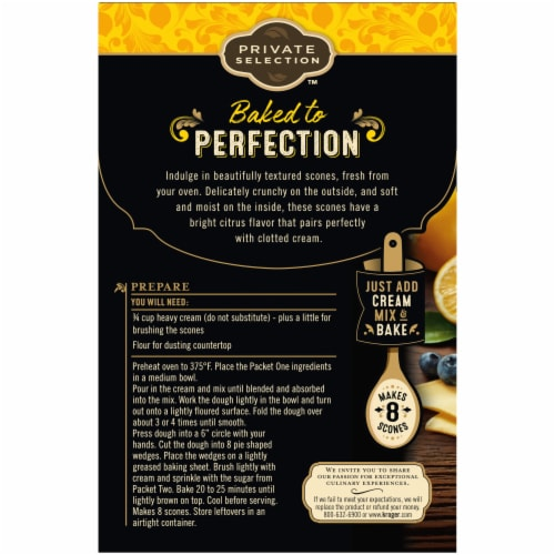 Private Selection™ Meyer Lemon & Blueberry Naturally Flavored Scone Mix Perspective: back
