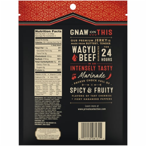 Private Selection™ Cheribanero Wagyu Beef Jerky Perspective: back