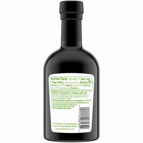 Simple Truth Organic Balsamic Vinegar Perspective: back