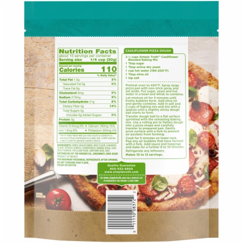 Simple Truth™ Finely Ground Cauliflower Blended Baking Mix Perspective: back