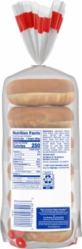 Kroger® Plain Pre-Sliced Bagels Perspective: back