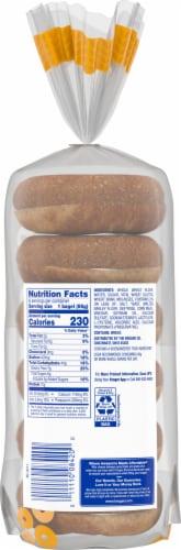 Kroger® 100% Whole Wheat Pre-Sliced Bagels Perspective: back