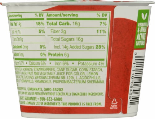 Simple Truth™ Dairy Free Almondmilk Strawberry Yogurt Alternative Perspective: back