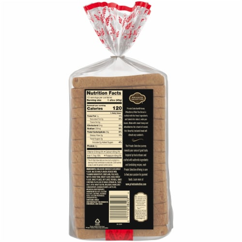Private Selection® Honey Wheatberry Wide Pan Bread Perspective: back