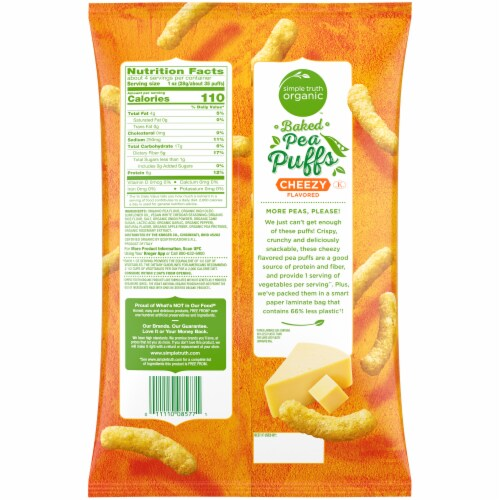 Simple Truth Organic Cheezy Baked Pea Puffs Perspective: back