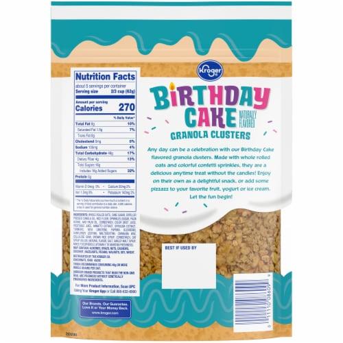 Kroger® Birthday Cake Granola Clusters Perspective: back