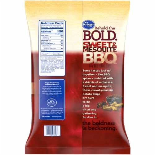 Kroger® BBQ Potato Chips Perspective: back