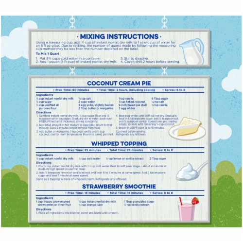 Kroger® Instant Non-Fat Dry Milk Pouches Perspective: back