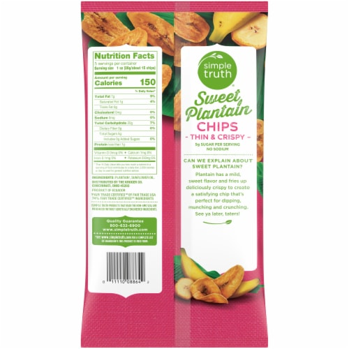 Simple Truth® Sweet Plantain Chips Perspective: back