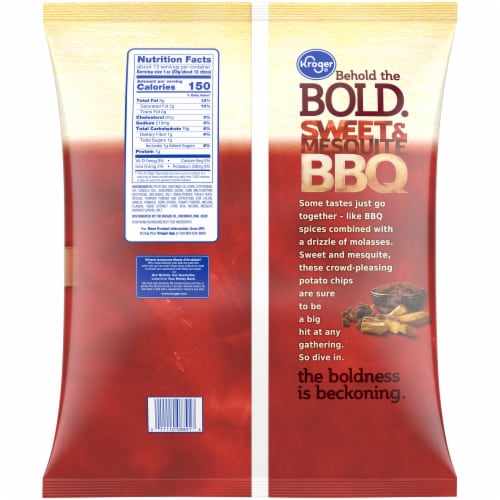 Kroger® Sweet & Mesquite BBQ Flavored Potato Chips Perspective: back