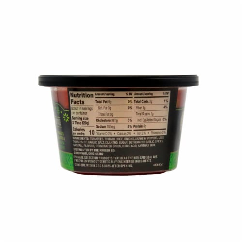 Private Selection® Mild Restaurant Style Salsa Perspective: back