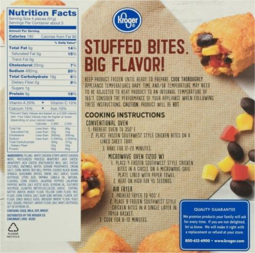 Kroger® Southwest Style Stuffed Chicken Bites Perspective: back
