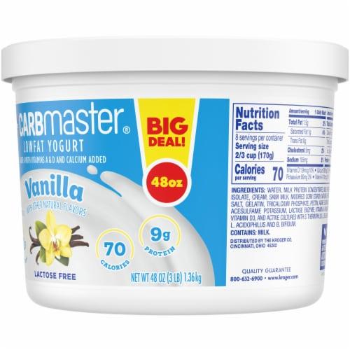 Kroger® CarbMaster® Low Fat Vanilla Yogurt Perspective: back