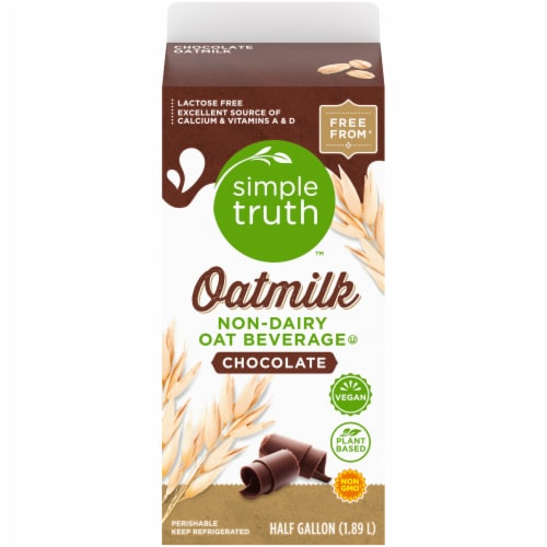 Simple Truth Chocolate Oat Milk Perspective: back