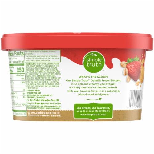 Simple Truth Oatmilk Frozen Dessert - Strawberry Graham Perspective: back