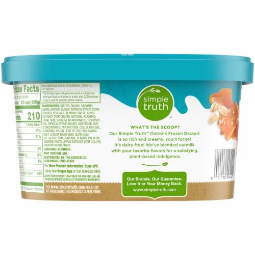 Simple Truth™ Sea Salt Caramel Oatmilk Non-Dairy Frozen Dessert Perspective: back