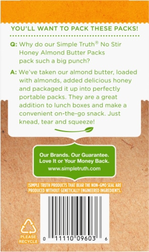 Simple Truth® Honey Almond Butter Pouch Perspective: back