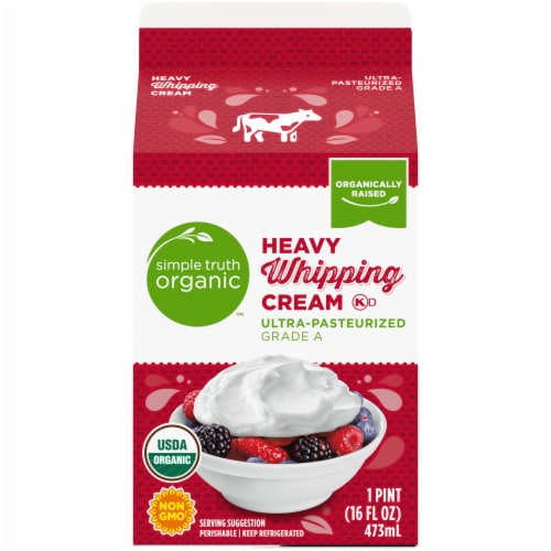 Simple Truth Organic™ Heavy Whipping Cream Perspective: back