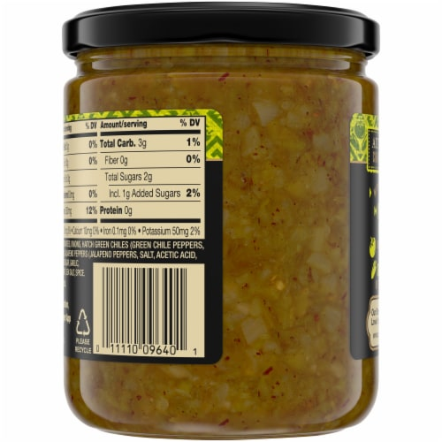 Private Selection® Roasted Green Tomato & Hatch Chili Salsa Perspective: back