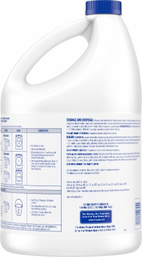 Kroger® Concentrated Disinfecting Bleach Perspective: back