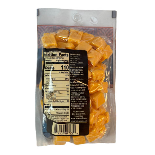 Private Selection® Sharp Cheddar Cheese Cubes Perspective: back