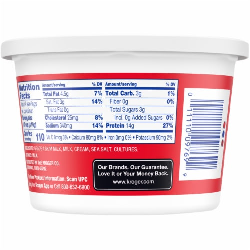 Kroger® 4% Whipped Cottage Cheese Perspective: back