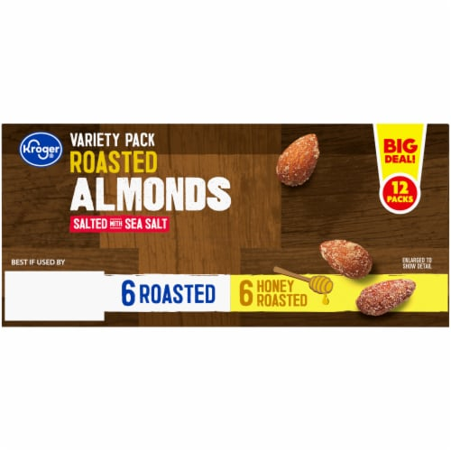 Kroger® Roasted Almonds Salted with Sea Salt Variety Pack Perspective: back