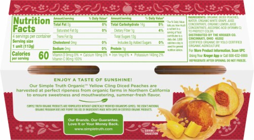 Simple Truth Organic™ Yellow Cling Diced Peaches Perspective: back
