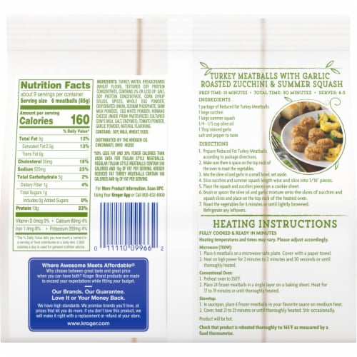 Kroger® Turkey Meatballs with Romano Cheese Perspective: back