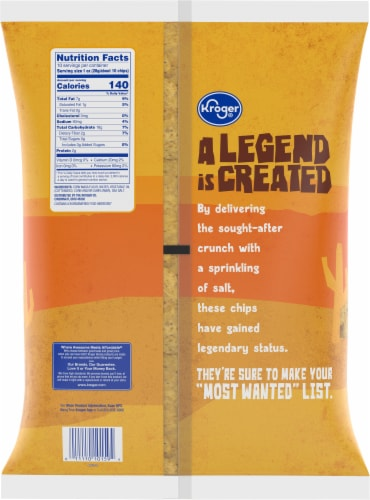 Kroger® Traditional Gold Round Tortilla Chips Perspective: back