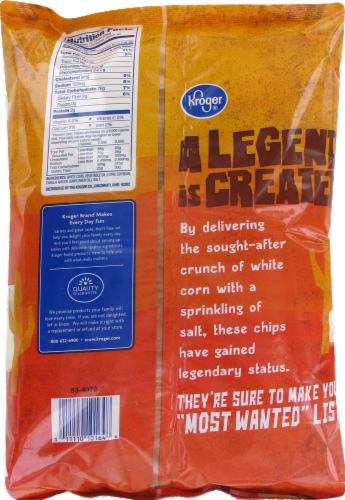 Kroger® Traditional White Corn Round Tortilla Chips Perspective: back