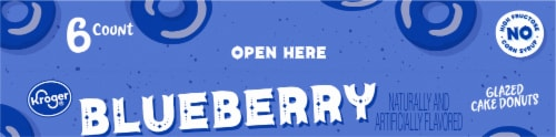 Kroger® Blueberry Glazed Cake Donuts Perspective: back