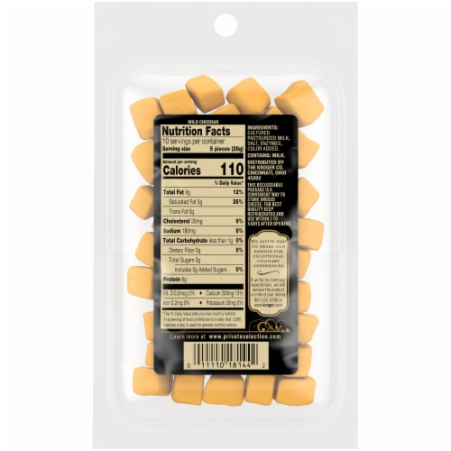 Private Selection® Mild Cheddar Cheese Cubes Perspective: back