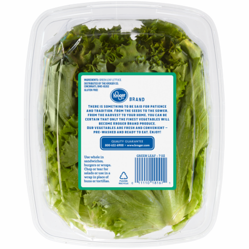 Kroger® Green Leaf Lettuce Perspective: back