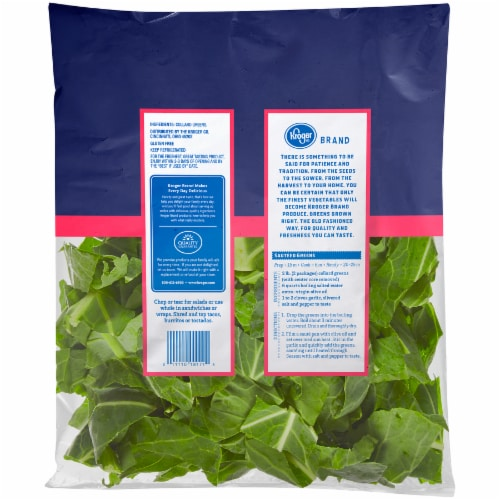 Kroger® Collard Greens Perspective: back