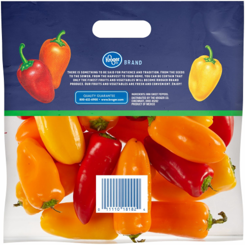 Kroger® Mini Sweet Peppers Perspective: back