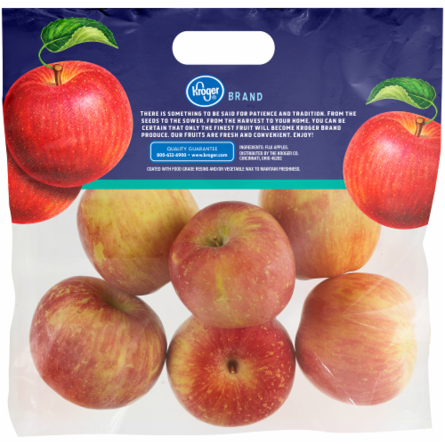 Kroger® Fuji Apples Pouch Perspective: back