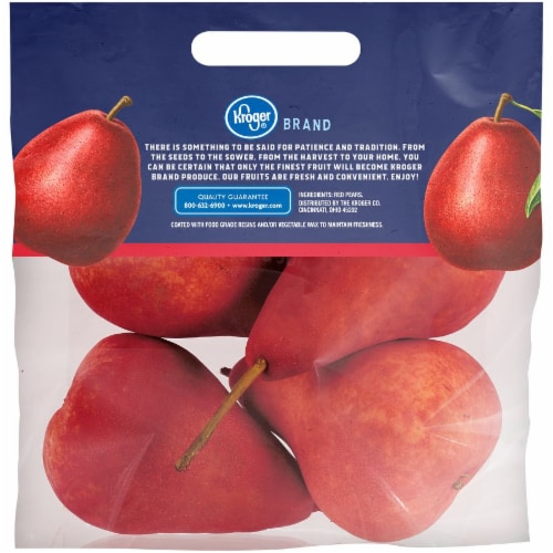 Kroger® Red Pears Pouch Perspective: back