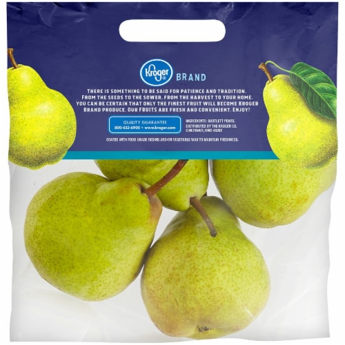 Kroger® Bartlett Pears Pouch Perspective: back
