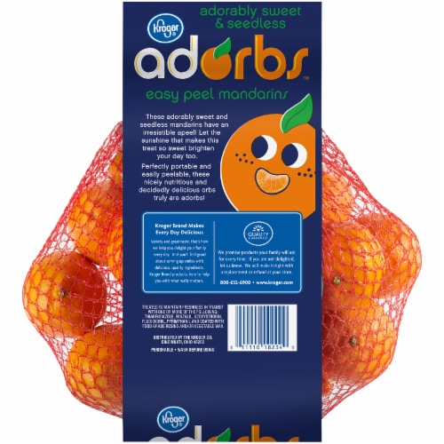 Kroger® Adorbs Easy Peel Seedless Mandarins Perspective: back