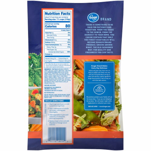 Kroger® Stir Fry Mandarin Orange Kit Perspective: back